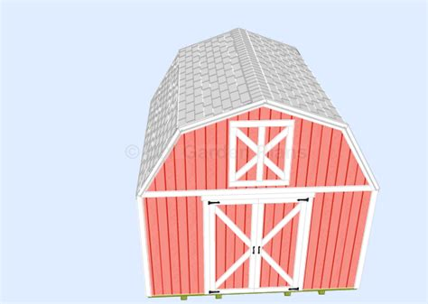 Shed Roof Ridge Cap by Gambrel Shed Plans With Loft Shingles