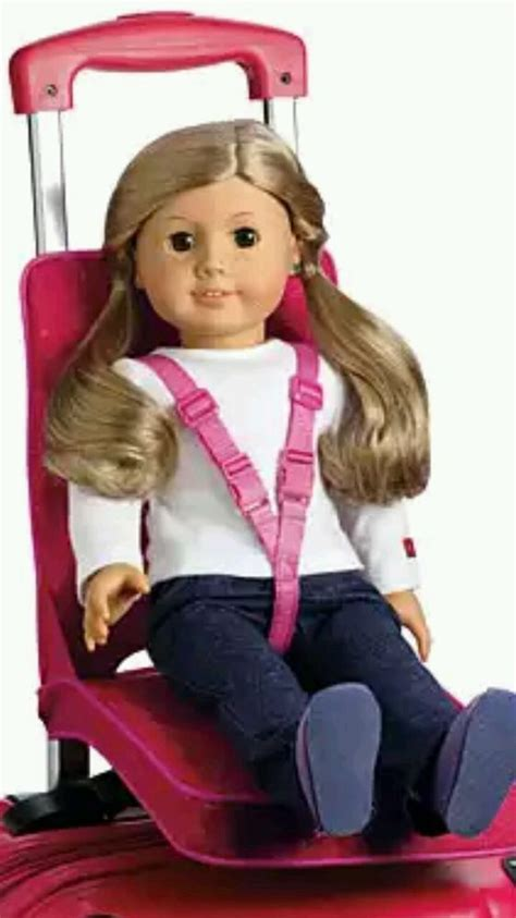 american travel bed nib american doll pink travel seat luggage suitcase
