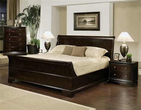 king size bed set abbyson living 4 sleigh king size bedroom set by oj commerce abbl138 4 538 88