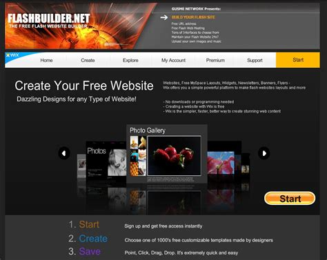 free websites 20 useful resources to make your own flash website for free