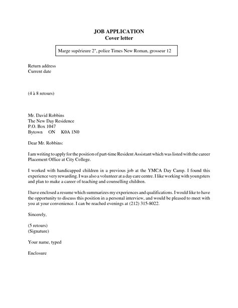 cover letter for new cover letter for new the letter sle