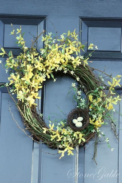 forsythia wreath tutorial forsythia wreath wreaths and easy 17 best images about diy outdoor ideas on pinterest
