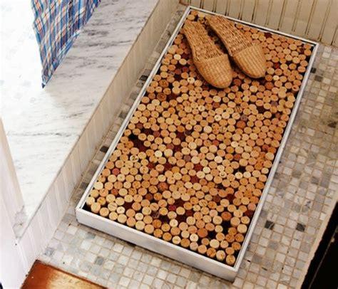 tappeto con tappi di sughero riciclo creativo tappi di sughero tante idee curiose