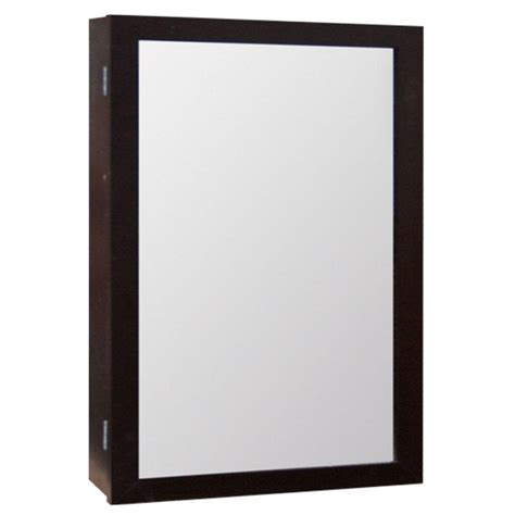 surface mount medicine home glacier bay 15 1 4 in w x 25 3 4 in h framed surface