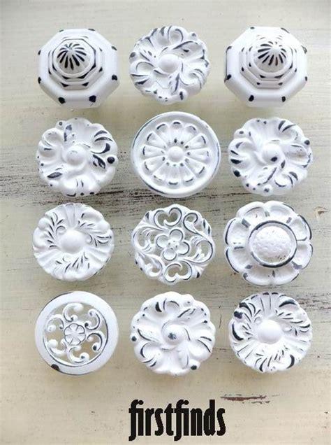 shabby chic kitchen cabinet handles 12 misfit knobs shabby chic white kitchen reno cabinet