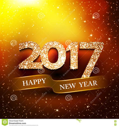 new year background gold happy new year 2017 gold background stock vector image