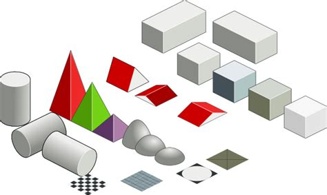 visio isometric shapes set of basic isometric figures clip at clker
