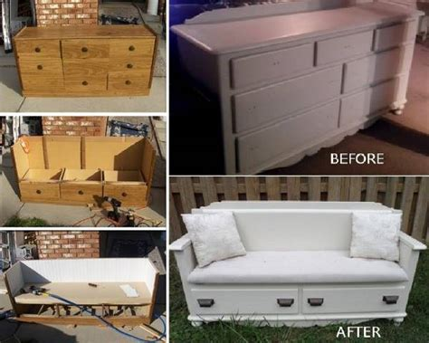 diy dresser ideas turn an old dresser into a new bench diy find fun art