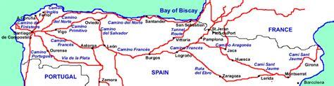 camino de santiago route map pelgrimssponsortocht naar santiago de compostela camino