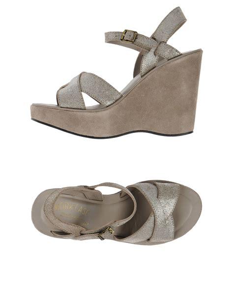 kork ease shoes kork ease sandals in gray grey lyst