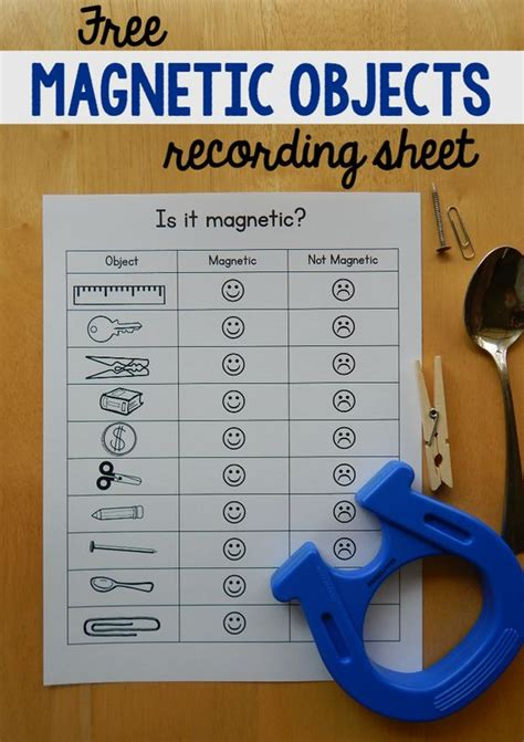 Magnet Worksheet by Free Magnet Worksheet For For Magnets And
