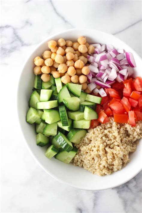 carbohydrates quinoa vegetable quinoa chickpea salad exploring healthy foods