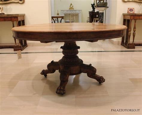 tavoli da pranzo antichi tavolo da pranzo allungabile in mogano con piede centrale