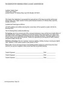 lease addendum template washington smoke free lease addendum ez landlord forms