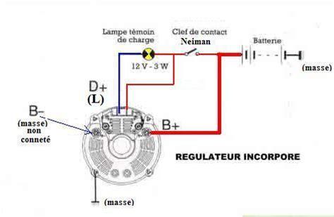 Pompa Air Celup 24 Volt branchement du r 233 gulateur interne de l alternateur valeo