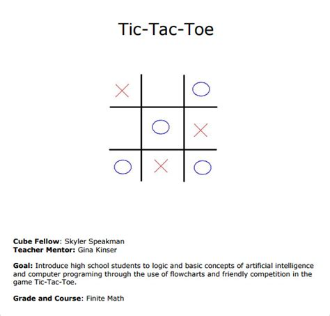 sle tic tac toe template 9 free documents in pdf doc