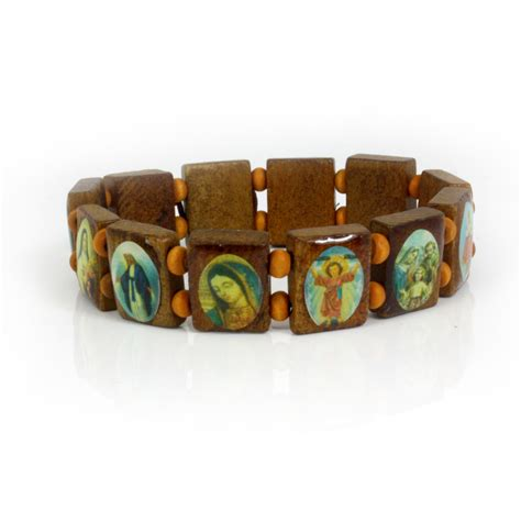 wooden bracelet new saints catholic christian jesus wooden wood bracelets