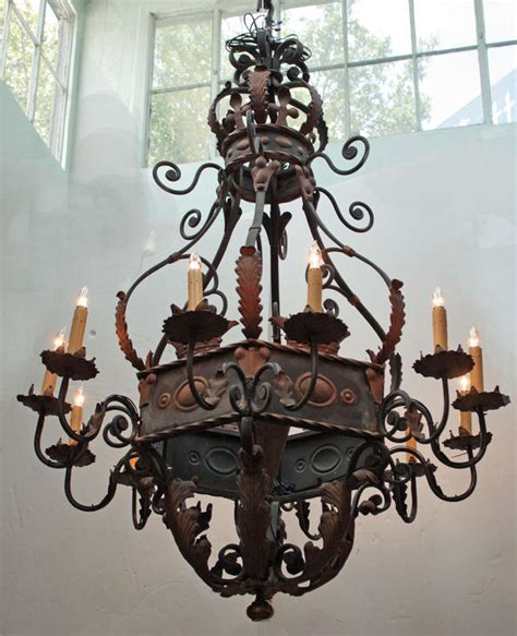 schmiedeeiserner kronleuchter large wrought iron chandelier lanterns ls chandeliers