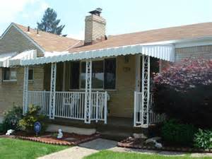 aluminum porch awning awning ideas front porch front