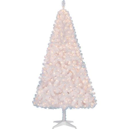 holiday time pre lit 65 madison pine white artificial christmas tree clear lights time pre lit 6 5 pine artificial tree white clear lights walmart