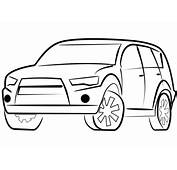 SUV Car Coloring Page  Free Printable Pages
