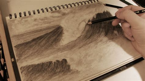 boat crashing drawing how to draw realistic crashing waves w commentary youtube