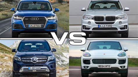 Bmw X5 Vs Audi Q7 by Audi Q7 Vs Bmw X5 Vs Mercedes Gls Vs Porsche Cayenne