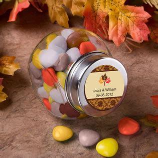 fall personalized glass jar favors unique favors