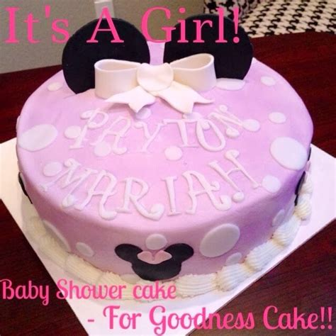 Minnie Mouse Baby Shower Cake by For Goodness Cake Baby Shower Minnie Mouse Cake