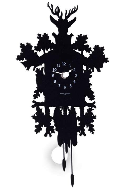 Modern Cuckoo Clock by Horloge Murale Cuc 249 Mignon Avec Balancier H 34 Cm Noir