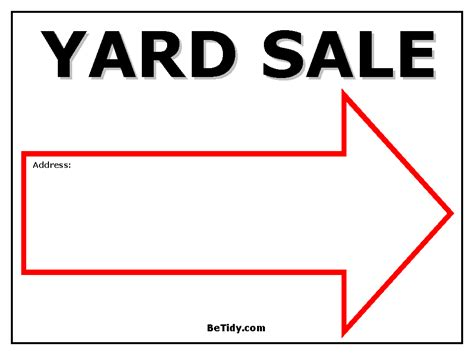 Yard Sale Sign Template free printable yard sale signs organizing storage