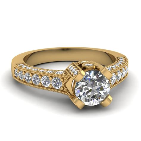 cut crown antique vintage engagement ring in