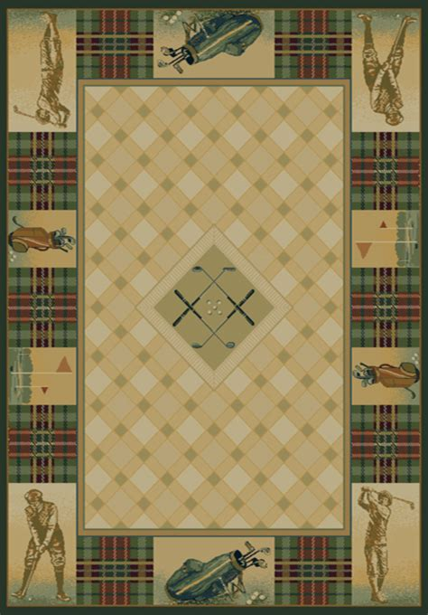 Golf Area Rug Delectably Yours Classic Open Golf Area Rug Collection