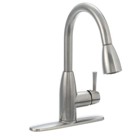 stainless steel kitchen faucet american standard fairbury single handle pull sprayer