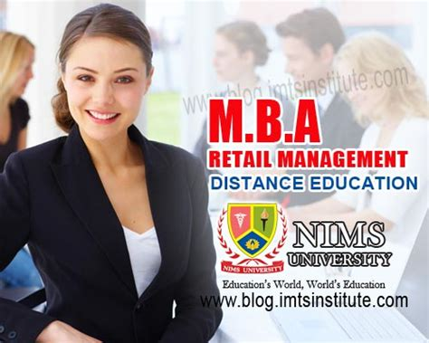 Mba Retail Management Distance Education by Mba Retail Distance Education Nims Imts India Dubai