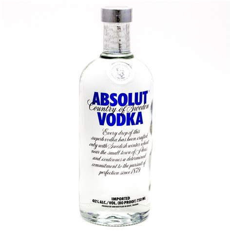 100 proof vodka absolut vodka 100 proof 750ml wine and