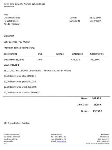 Rechnungskorrektur Umsatzsteuer Muster steuerberater tipp wie schreibe ich meine rechnungen