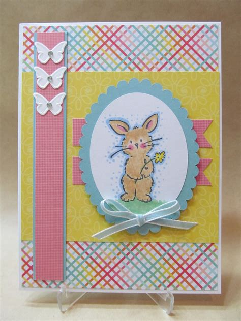 Easter Handmade Cards - savvy handmade cards sweet bunny easter card