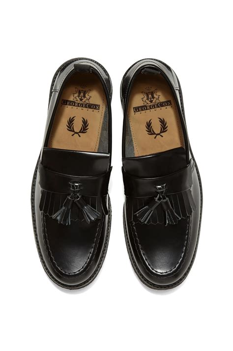 fred perry loafers fred perry fred perry x george cox tassel loafer black