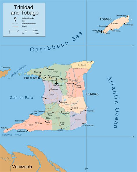 and tobago on the world map and tobago political map