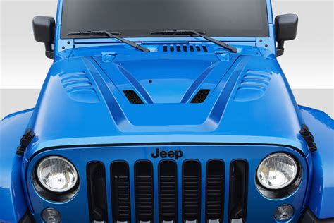 ferrari jeep wrangler 2007 2017 fits jeep wrangler abr hood 1 piece exotic