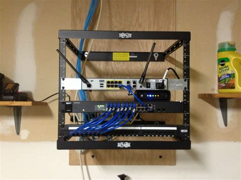 home network cabinet design clean network rack no smarter way to do it mediacenter