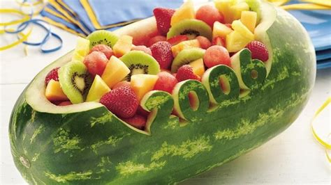 Carved Watermelon Bowl recipe from Betty Crocker Watermelon Carving Ideas