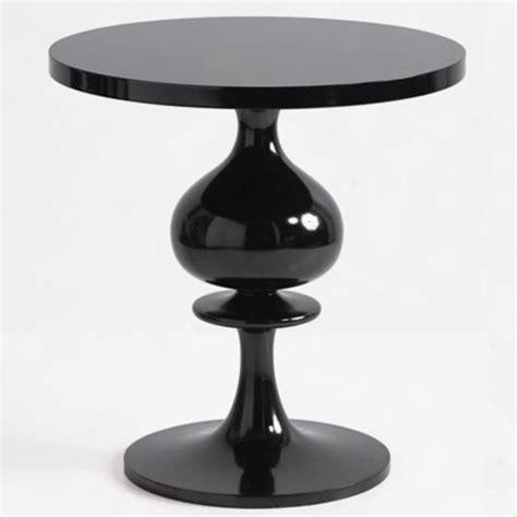 Pedestal Side Table Black Turned Wood Pedestal Table Black Eclectic Side