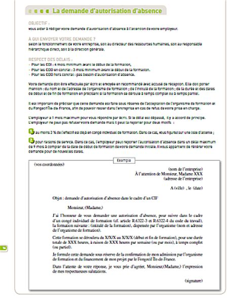 Lettre De Motivation De Reconversion Professionnelle Gratuite Ep4 12 Lettre De Motivation Fongecif L Autorisation D Absence Cif Fhtt Pour Partir En
