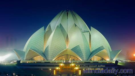 temple of lotus lotus temple delhi india