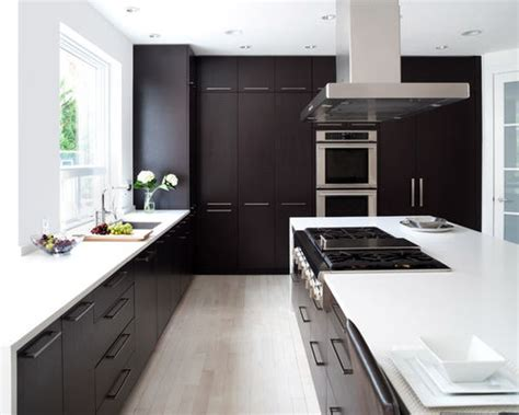 Black Appliances Kitchen Design by Dark Cabinets Light Floor Home Design Ideas Pictures