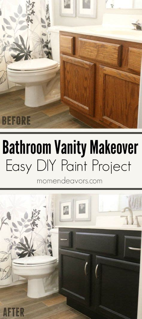 bathroom vanity makeover diy 25 best ideas about black cabinets bathroom on pinterest