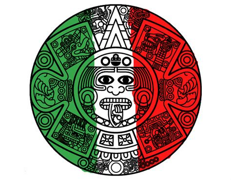 Calendario Azteca Png Dibujo De Calendario Azteca Pintado Por En Dibujos Net El
