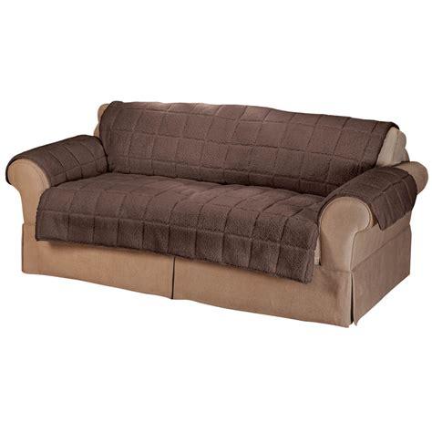 Waterproof Sofa Protector Waterproof Sherpa Xl Sofa Protector By Oakridge Comforts
